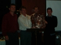 John Meagher, Chris O'Connor, Graeme Olden & Cameron Baker with State League Premierhsip Shield