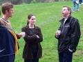 Marcus Tierney & Sarah listening to Jamie Strudley