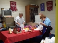 Joan Hines & Pam Renowden Preparing meals for officials