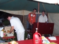 Simon Bromley, Cameron Joyce & Marcus Tilley  Preparing meals at the BBQ